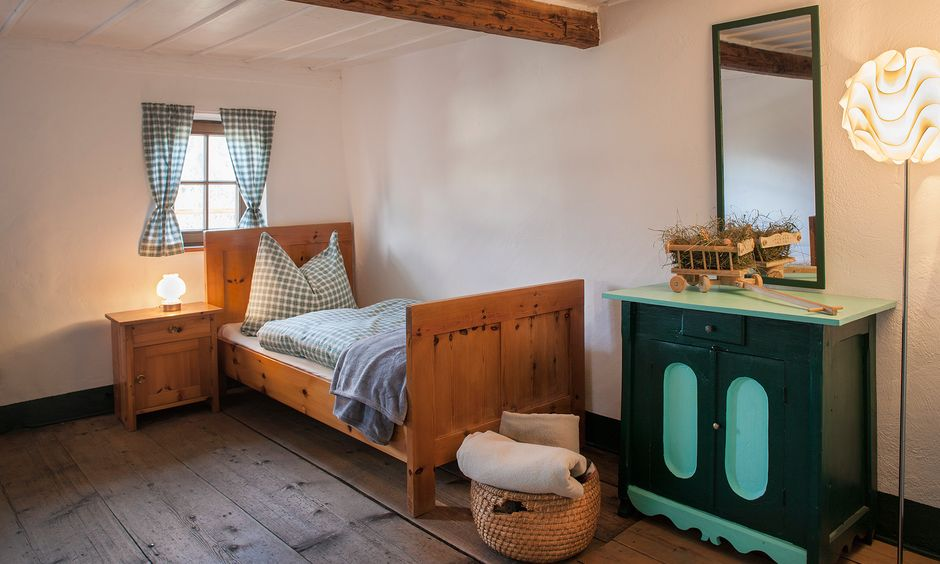 Cute two-bed room in the Chalet.