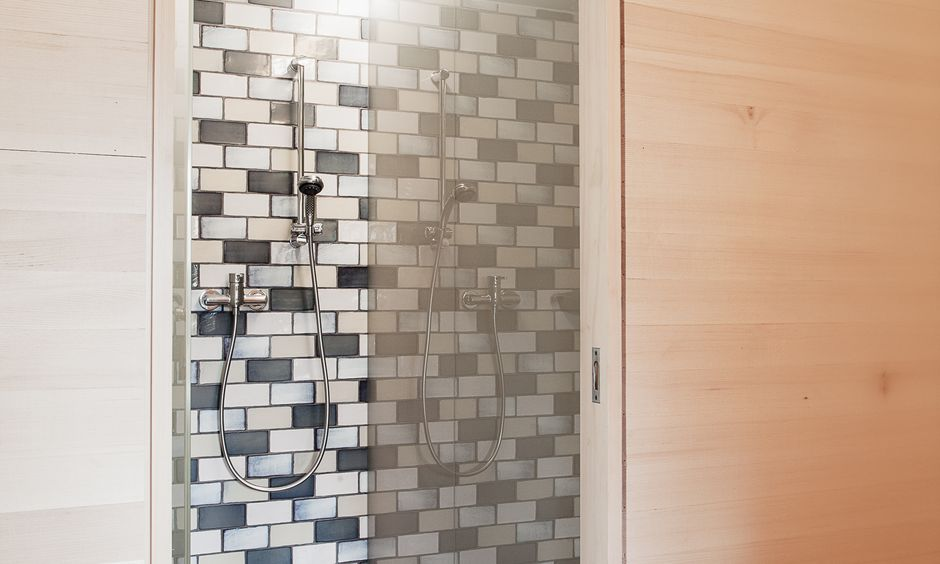 One of six stylish showers