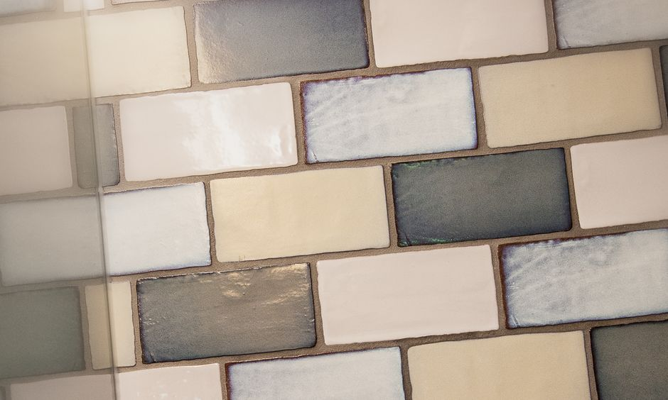 Nostalgic tiles in the shower